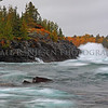 Lake Superior waves crash against an ancient laval flow during an October gale along Michigan's Keweenaw Peninsula.