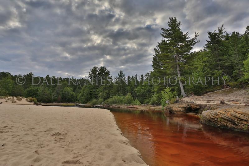 Miners River at Miners Beach, Pictured Rocks National Lakeshore, Munising, Michigan.