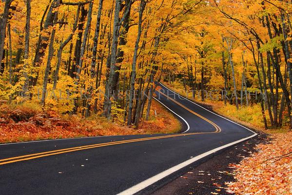 Fall Colors on US-41 near Copper Harbor, Michigan