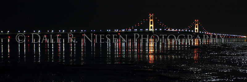 The Mackinac Bridge on ice.  Note: Special steps may need to be taken when ordering a panoramic image please review the panoramic print sizes for cropping.  However the 10 x 30 and 12 x 36 appear to be perfect fits for the above image without cropping.