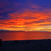 Sunrise over Lake Huron at Mackinaw City, Michigan