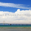 The Straits of Mackinac and the Mackinac Bridge with a wonderful cloud formation as a backdrop.