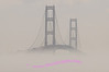 Mackinac Bridge thru the daytime fog.