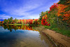 Michigan, Upper Peninsula, Lake, Fall Colors, Foliage, Reflection Landscape 密歇根 北部半岛 风景 秋色