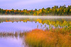 Michigan, Upper Peninsula, Fall Colors, Foliage, Lake, Fog Landscape 密歇根 北部半岛 风景 秋色