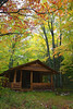 Michigan, Upper Peninsula, Pictured Rocks National Lakeshore, Fall Colors, Cabin Landscape 密歇根 北部半岛 风景 秋色