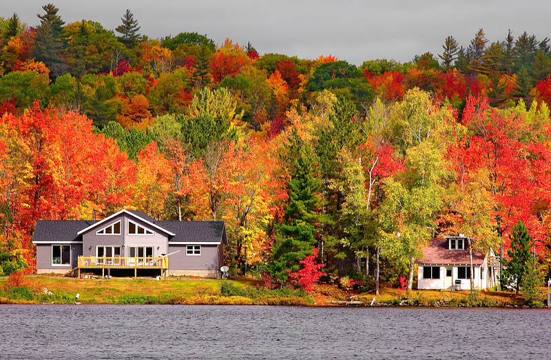 Michigan, Upper Peninsula, Fall Colors, Foliage Landscape 密歇根 北部半岛 风景 秋色