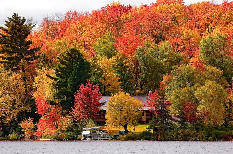 Michigan, Upper Peninsula, Fall Colors, Foliage Landscape 密歇根 北部半岛 风景 秋色