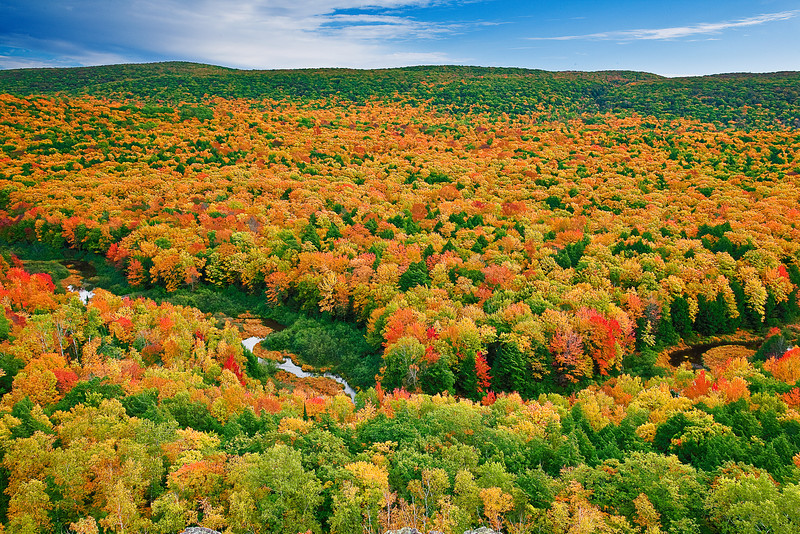 Michigan, Upper Peninsula, Porcupine Mountains, Fall Colors, Foliage Landscape 密歇根 北部半岛 风景 秋色