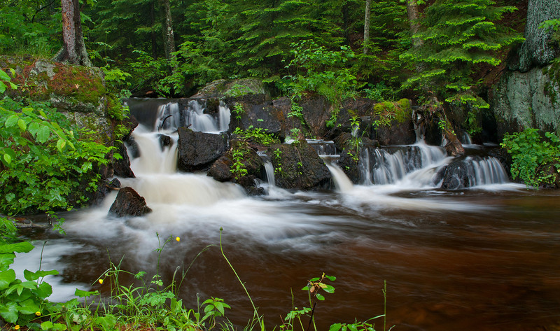 Unnamed waterfalls on Morgan Creek near Marquette Michigan.