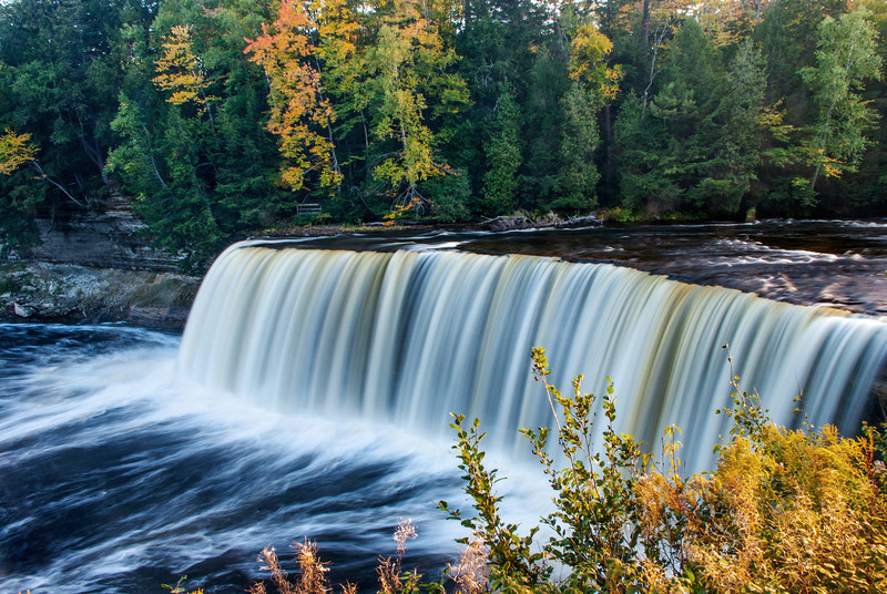 Autumn colors at Tahquamenon Falls State Park, Michigan.