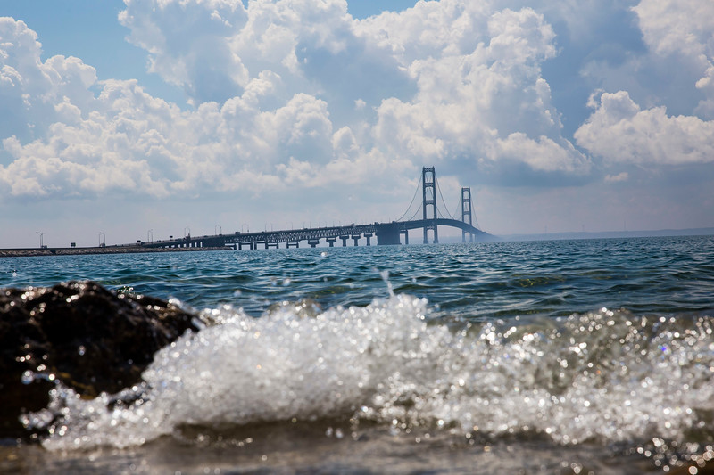 The Mackinac Bridge from the U.P.