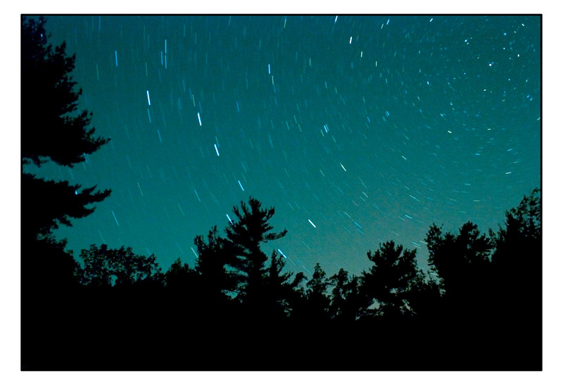 Stars near Interlochen State Park in Michigan.