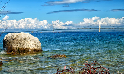 McGulpin Rock with Mackinac Bridge