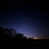 Night sky near the St. Joseph River near St. Joseph Michigan.