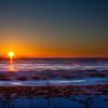 Frozen South Haven sunset.