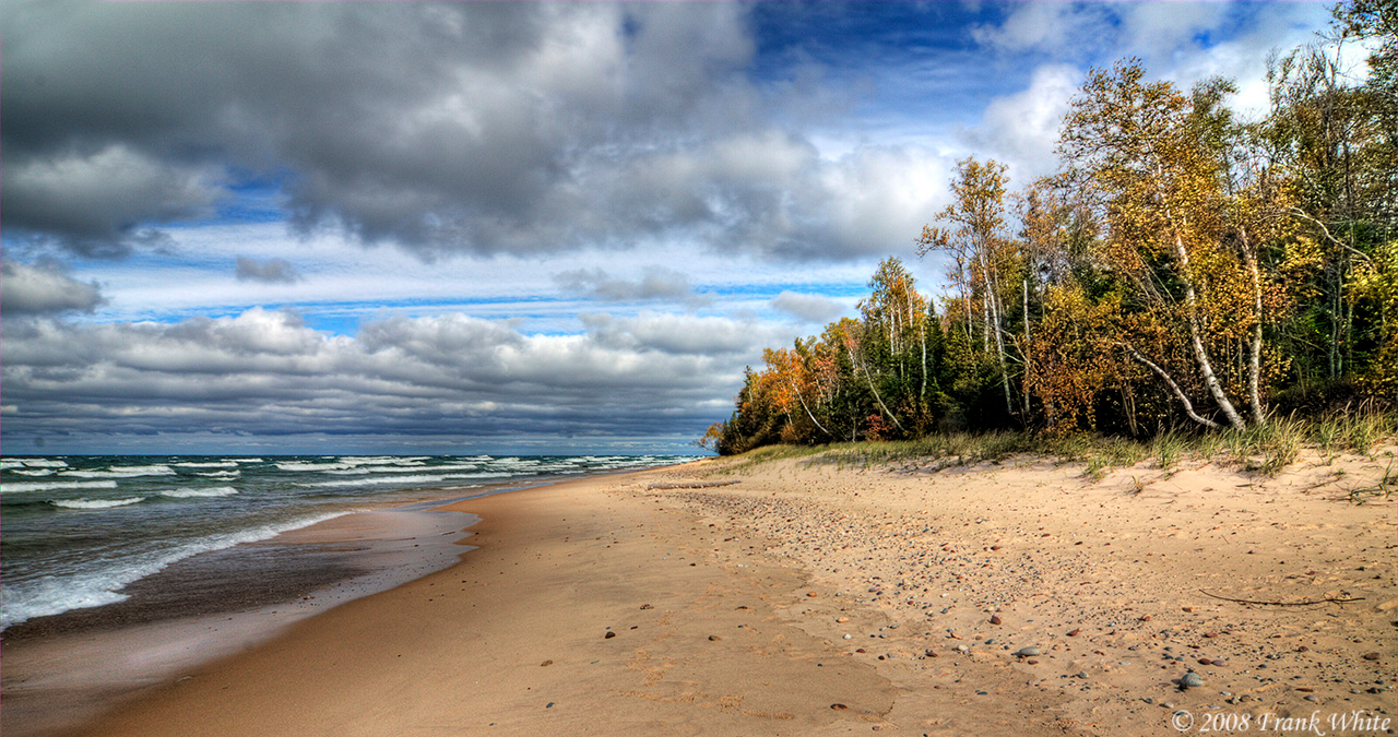 Lake Superior shoreline, Michigan upper peninsula