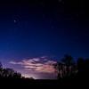Night sky near the St. Joseph River near St. Joseph Michigan.