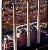 Board of Water and Light smokestacks in Lansing, Michigan.