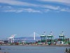 Bay Bridge Eastern Span and Outer Harbor<br /> Oakland Middle Harbor 2016-06-11 at 10-45-53