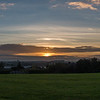 Stunning sunset over Stafford