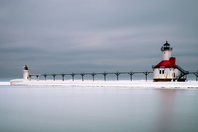 Lighthouse on Ice Benton Harbor, MI