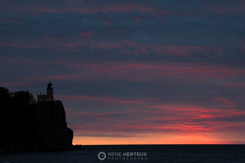 Split Rock sunrise silhouette