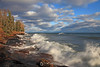 Lake Superior crashing waves