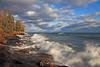 Lake Superior crashing waves