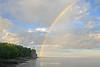 Rainbow over Split Rock lighthouse