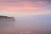 Split Rock lighthouse in the sunset fog