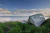 Abandoned boat along North Shore