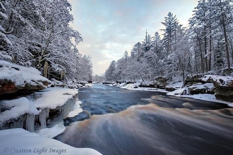 Kettle River Winter Evening