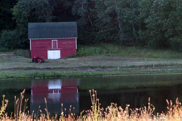 Barn in water