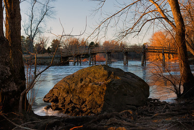 20130127. View of North Bridge across Concord River in Minute Man NHP.
