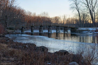 20130127. North Bridge across Concord River in Minute Man NHP.
