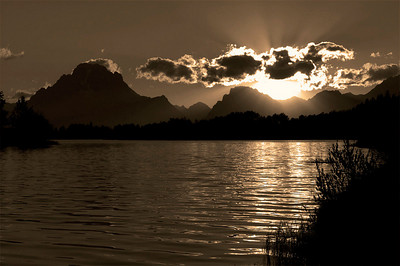 Sunset at Oxbow Lake Jackson Hole, WY September 2003