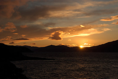 Sunset over Loch Linnhe Ballachulish, Scotland October 2003