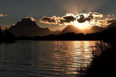 Sunset at Oxbow Lake Jackson Hole, WY September 2003