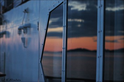 Sunset Reflections - Inside Passage, Queen of the North
