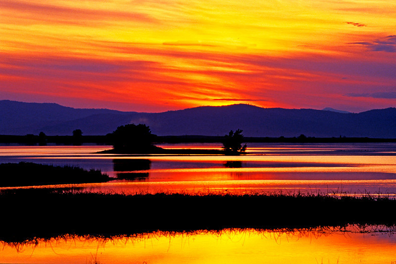 Ninepipes Sunset