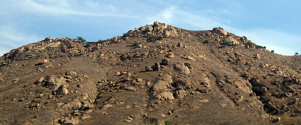 Mount Rubidoux from the west, 06 Feb 2006