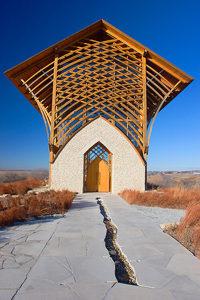 Holy Family Shrine near Gretna, Nebraska<br /> Afternoon  12/23/2006