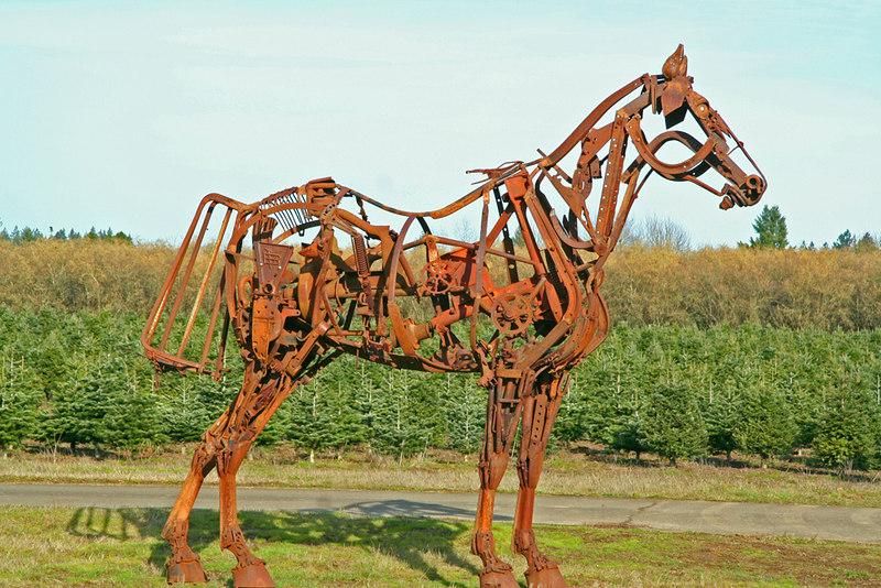 Horse Sculpture, Dayton, Oregon