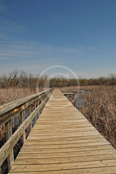 Boardwalk to no where at the Oxley Nature Center in Mohawk Park Tulsa Oklahoma