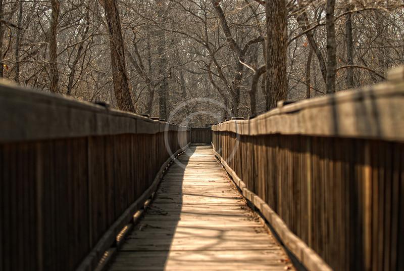 Deep Fork National Wildlife Refuge - Cussetah Bottoms Boardwalk Trail in Schulter Oklahoma