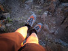Not 2517 feet - just 2 feet! ;-) I'm sporting my trail running shoes - Salomon XT Wings 2. You can also see the Kinesio tape I'm using on both my legs to help support my ankles.