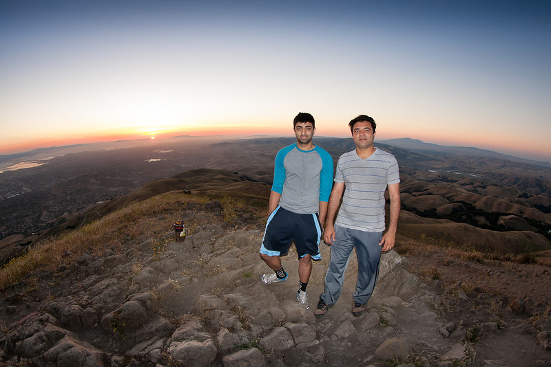 Asees and Zahid at Mission Peak's sunset.