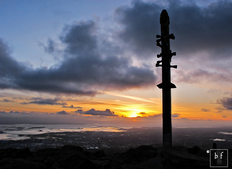 Mission Peak sunset.