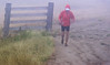 This is a guy who probably runs up Mission Peak every evening - I see him all the time. On one day, I saw him running with a pair of Vibram FiveFinger shoes.